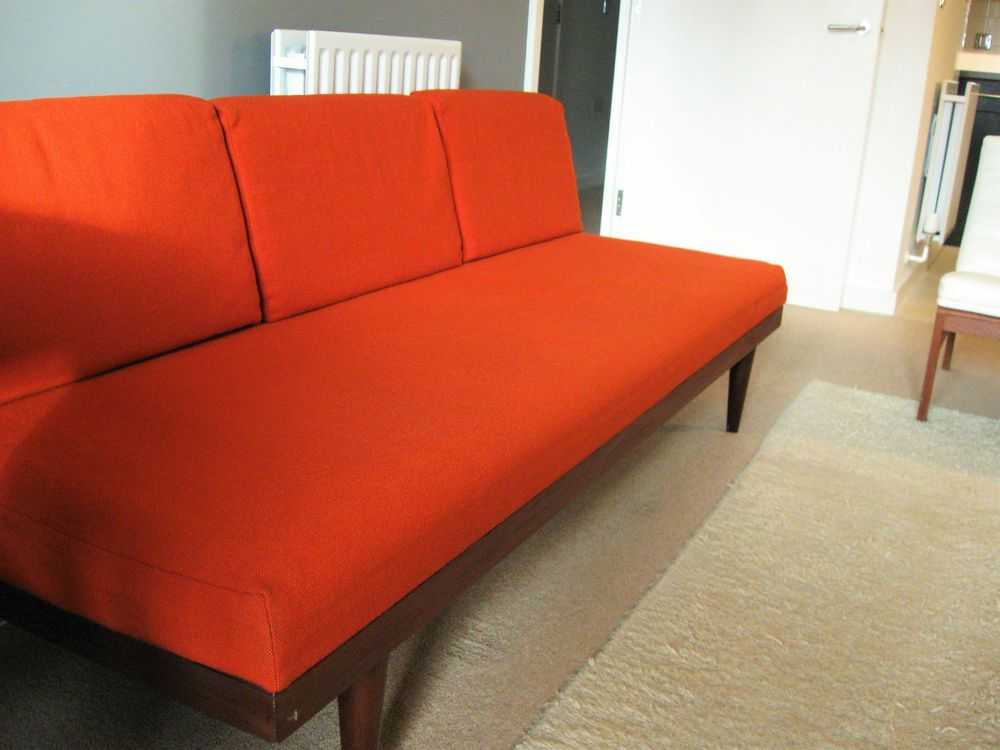 Norwegian 50s 60s 70s Vintage Sofa Day Bed Scandinavian Danish Retro Mid  Century
