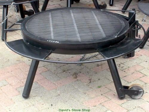 """36"""" Outdoor Fire Pit With Grill Top, Made In Texas in 2020 ..."""