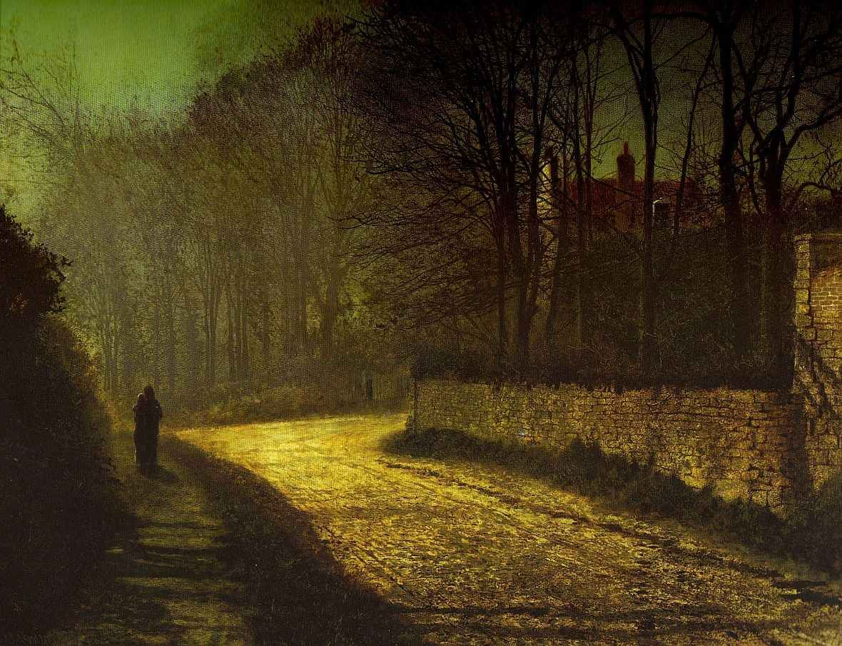 Cave to canvas john atkinson grimshaw the lovers 1874