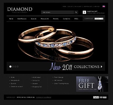 Template 40526 - Jewelry osCommerce Template With Homepage Image ...