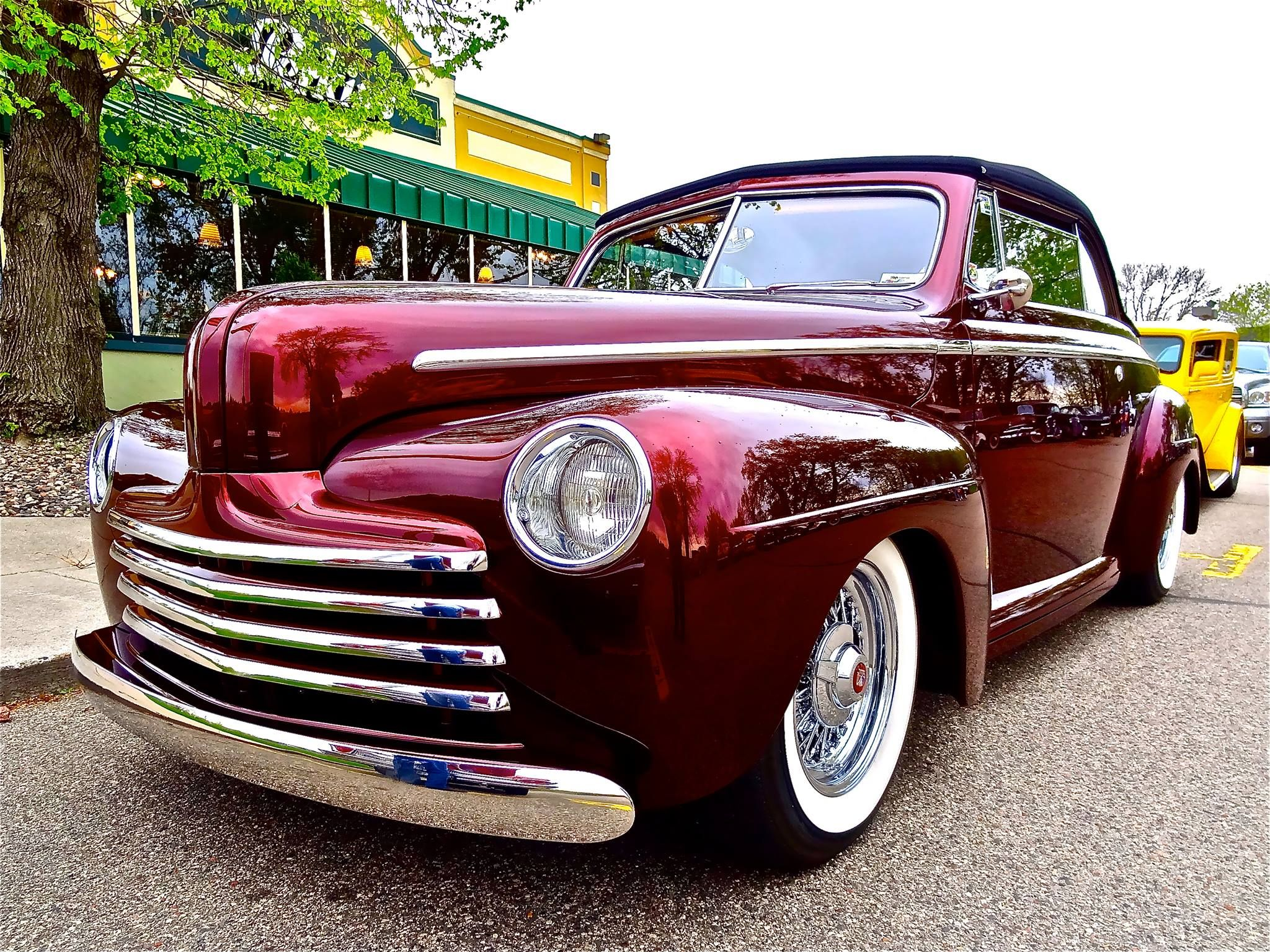 Our 1947 Ford at Perkins Burnsville, MN., A Wanderers car Club ...