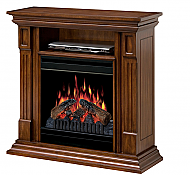 "36"" Dimplex Deerhurts Burnished Walnut Entertainment Center Fireplace. $699.99 Lowest Price Guaranteed from www.PortableFireplaces.com Fast & FREE shipping."