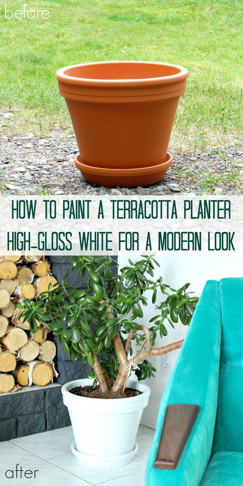 Dans le Lakehouse: How to Paint Terracotta Planters so They Don't Look  Painted