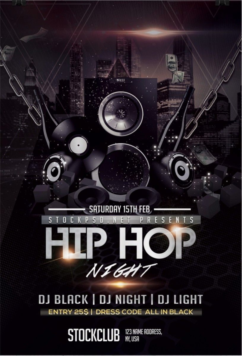 Hip Hop Music – Download Free PSD Flyer Template | Free Flyer ...