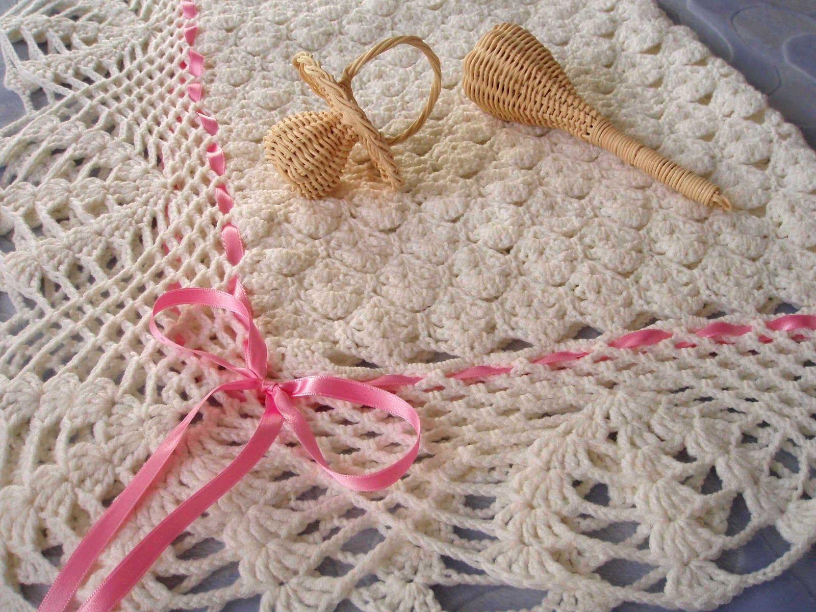Patrones mantas bebé crochet - Imagui