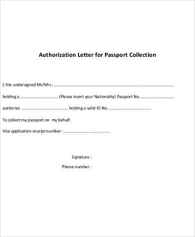 Authorization Letter For Passport Pdf  Home Design Idea