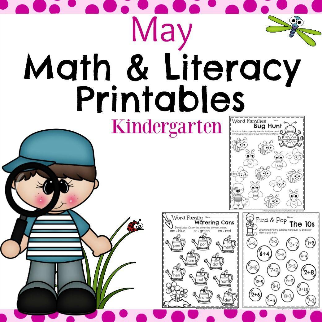 Kindergarten Worksheets For May