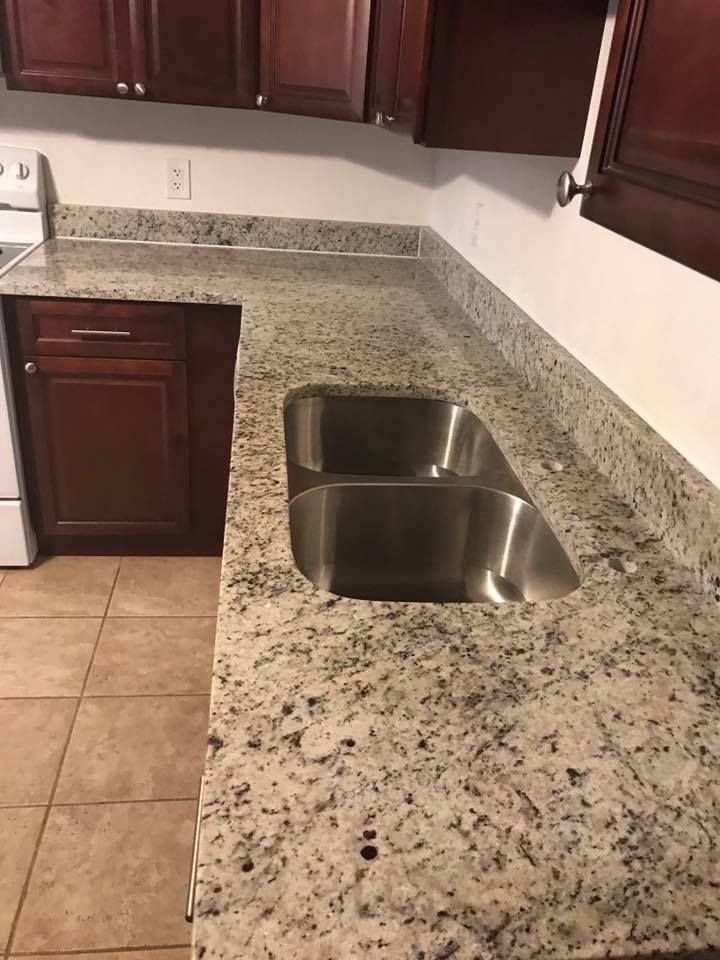 Best Dallas White Granite Countertop And Stainless Steel Double 400 x 300