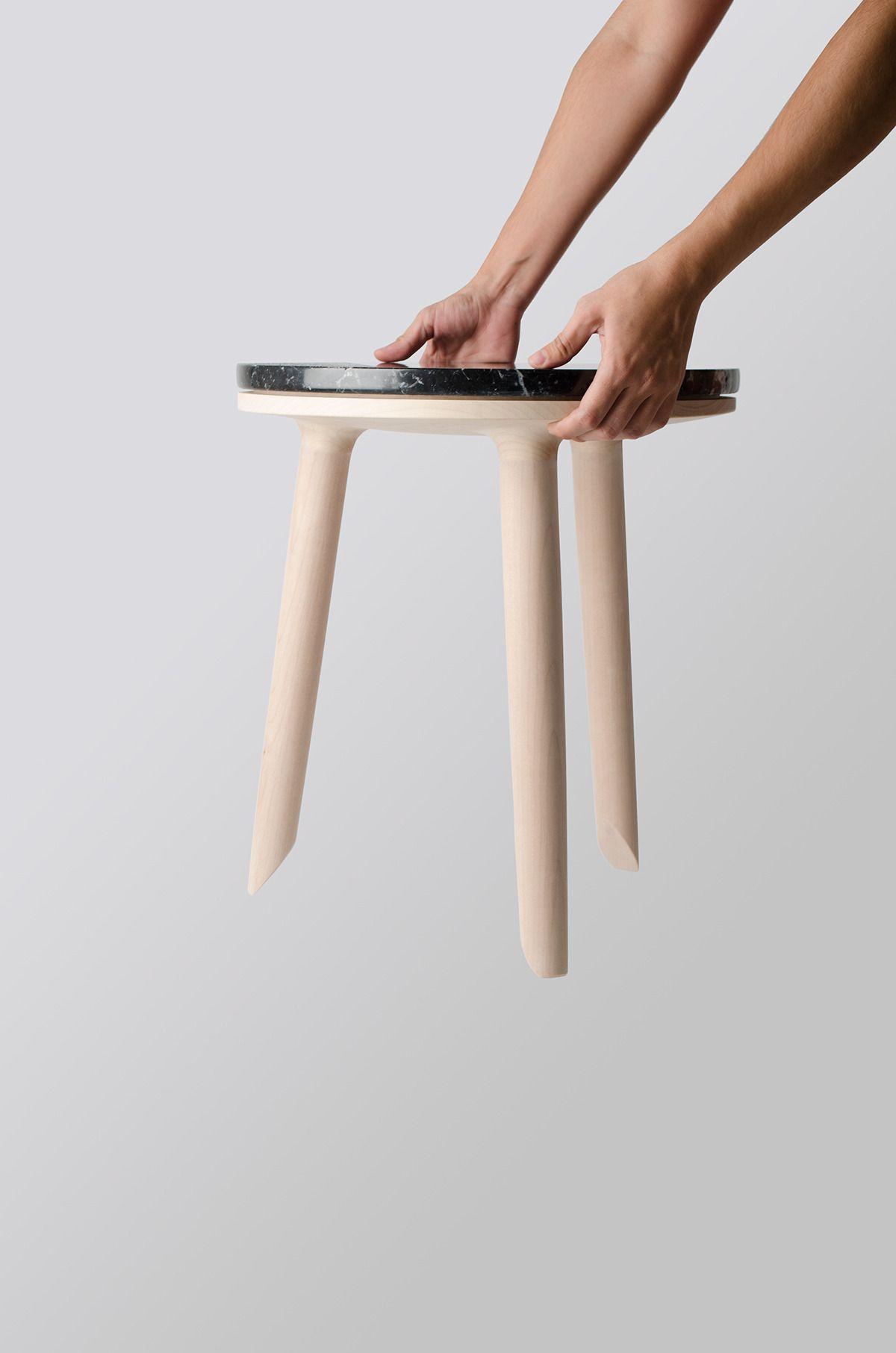 H E I D E G G E R Stool Sidetable By Yolanda Alarcón Logocore White Leather Dining Chairs Beach Chair Umbrella Boho Chair