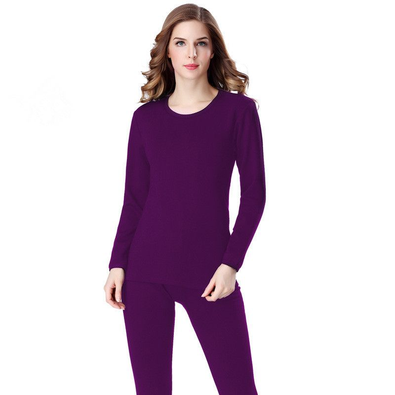 2017 vrouwen verdikking lange onderbroek winter o hals warme fleece soft body pak hoge elastische vrouwen thermische underwear sets h711