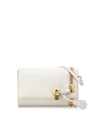Alix Small Fold-Over Crossbody Bag, White by TOM FORD at Bergdorf Goodman. 6f90e42a0159