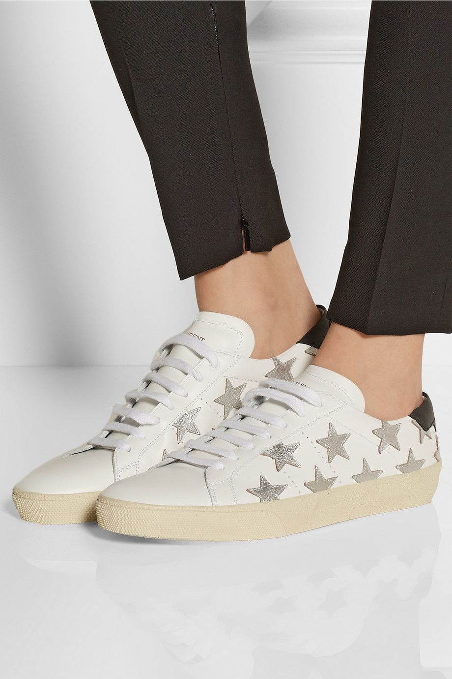 Saint Laurent Star Lace-Up Sneakers F4REzYB