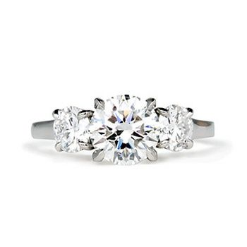 Betteridge 1 56 Carat Round Brilliant Three Stone Engagement Ring