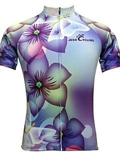 JESOCYCLING Cycling Jersey Women s Short Sleeves Bike Jersey Top Quick Dry  Moisture Permeability Breathable Back Pocket Sweat-wicking 0dcd8e20b