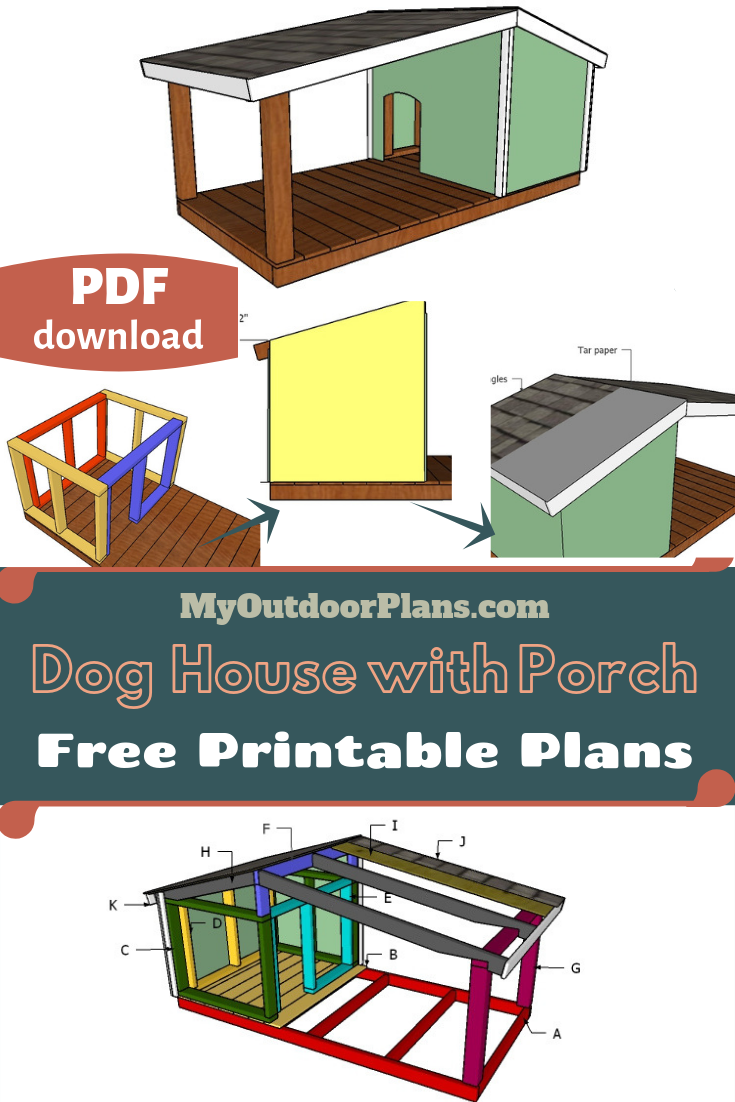 Dog House Plans With Porch Insulated Dog House Large Dog House Outdoor Dog House