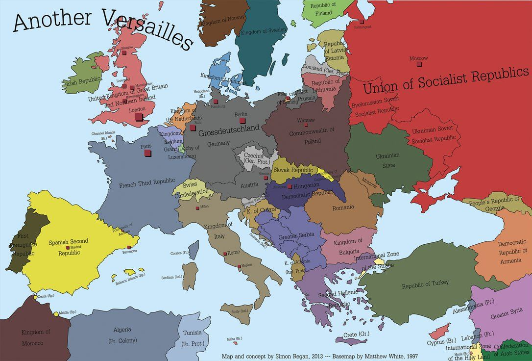 Another Versailles alternate history map Another