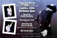 Printable Michael Jackson Dance Party Invitations Birthday