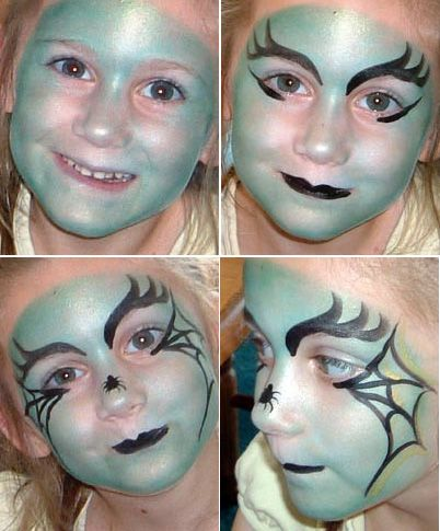 4334dfdbe Maquillaje de bruja para niñas. | Halloween | Maquillaje de Bruja ...