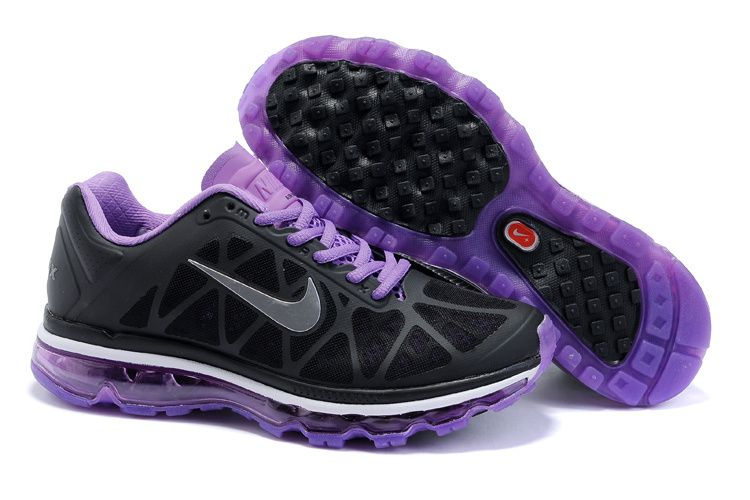 Nike Air Max Violet Groupe Exclusif Noir