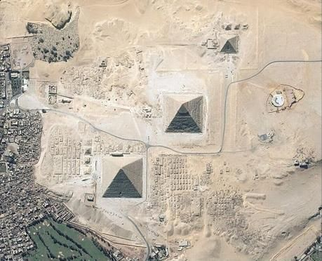Pyramids from the sky.