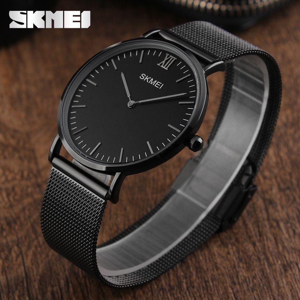 4f59256c54258 SKMEI Luxury Brand Men Watch Ultra Thin Stainless Steel Clock Male Quartz  Sport Watch Men Waterproof Casual Wristwatch relogio-in Quartz Watches from  ...