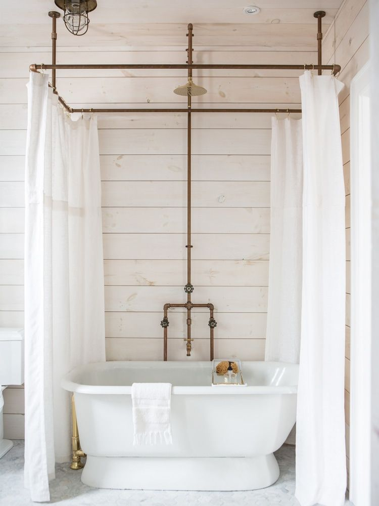 Is This The Next Shiplap With Images Diy Shower Curtain