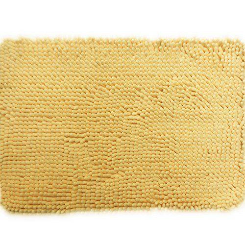 Adasmile Soft Shaggy Non Slip Microfiber Bath Mat Bathroom Mats