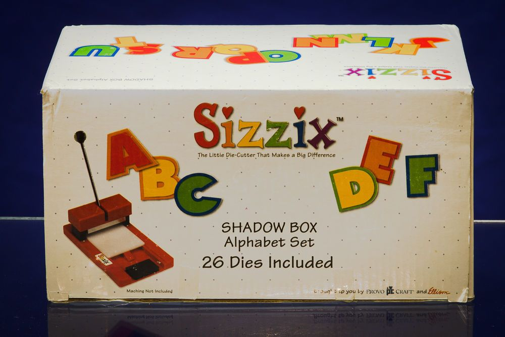 Sizzix Shadowbox Alphabet Set Shadow Box Crafts Sizzix