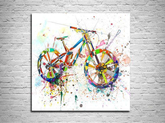 poster print quote posters wallart art BMX Bike watercolour gift prints