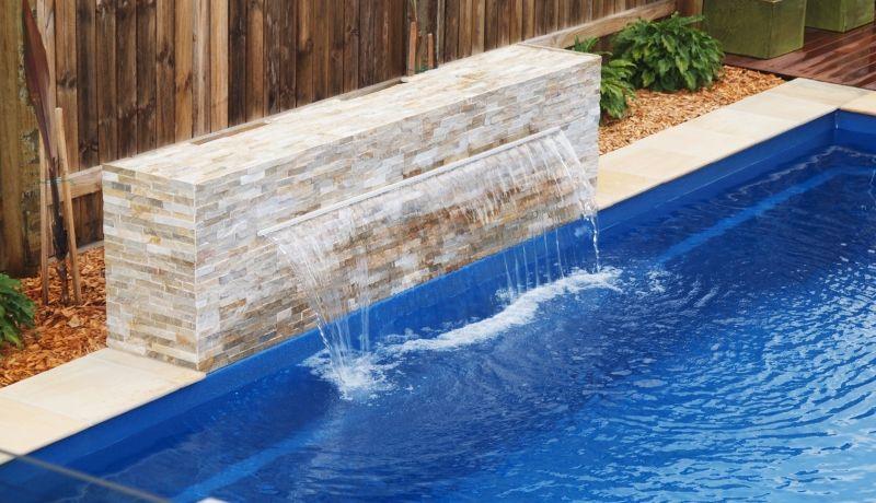 The Waterwall Leisure Pools Australia Backyard Renovations