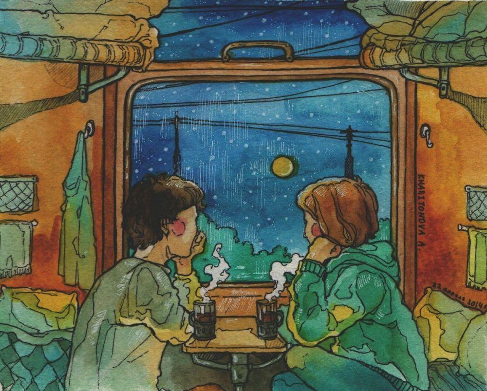 Картинки, открытки с поездкой на поезде