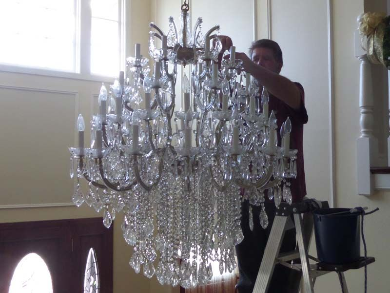 How to clean your crystal chandelier crystal chandelier
