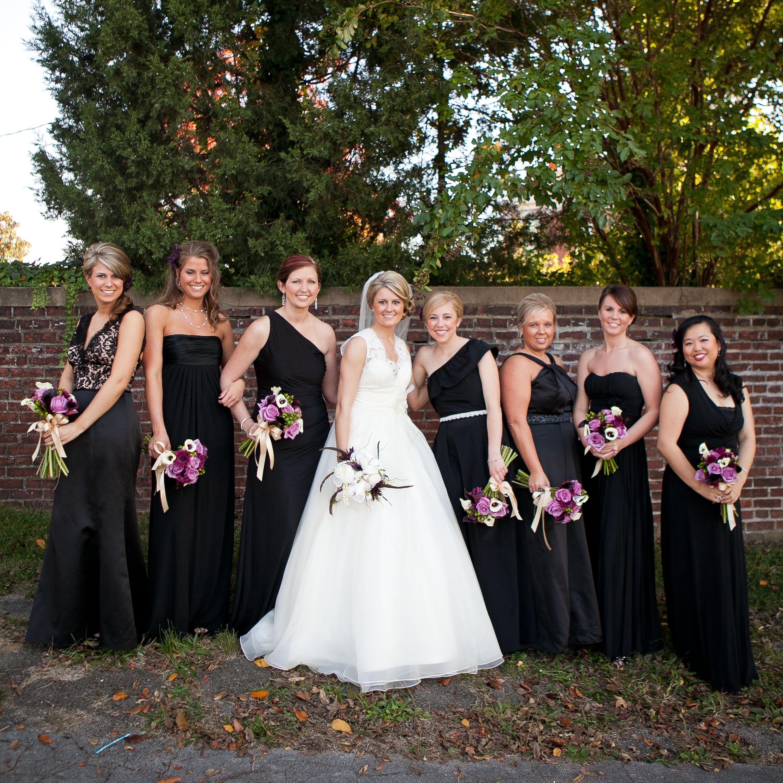 Black bridesmaid dresses all different but tea length wedding black bridesmaid dresses all different but tea length ombrellifo Choice Image