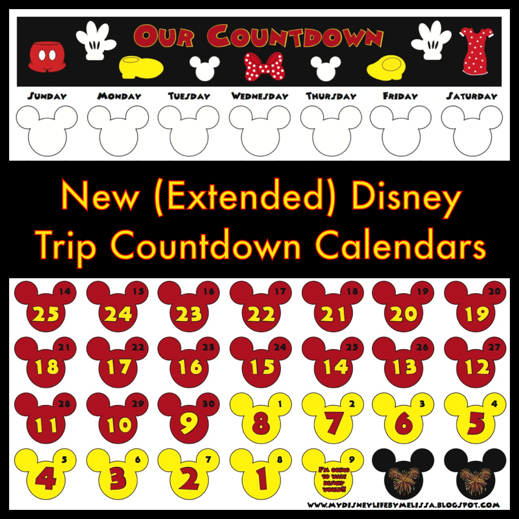 My Disney Life Free Mickey and Minnie Mouse Countdown Calendars – Countdown Calendar Template