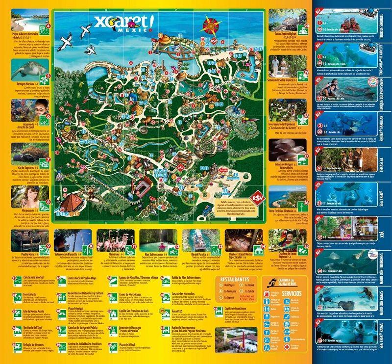 xcaret map   Pinteres