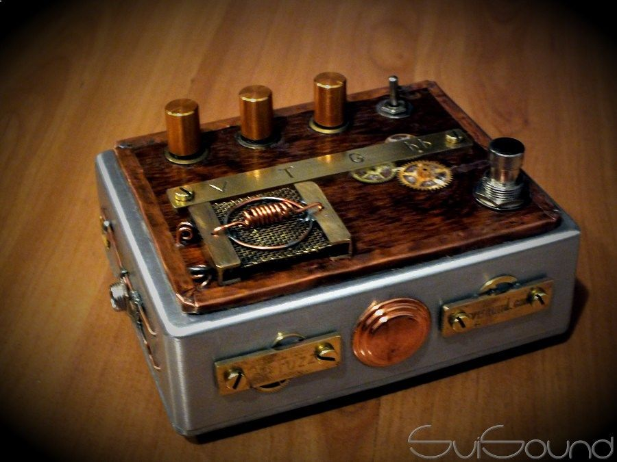 guitar pedals vintage steampunk fuzz guitar pedal steampunk guitar pedal guitar pedals. Black Bedroom Furniture Sets. Home Design Ideas