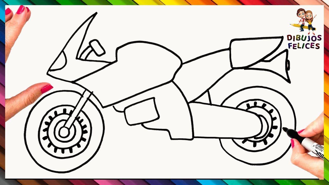 Cómo Dibujar Un Moto De Carreras Paso A Paso Y Fácil Motos Para Dibujar Como Dibujar Una Moto Cómo Dibujar