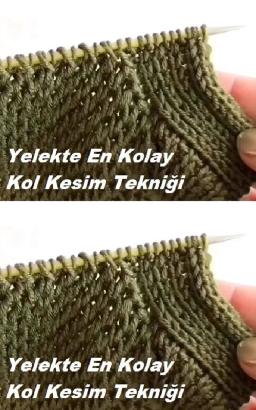 Technique de coupe de bras la plus simple dans le gilet   – Yelek Modelleri
