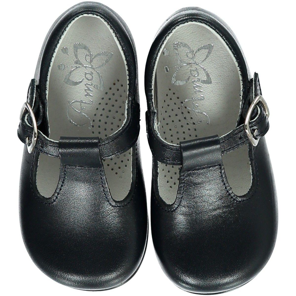 Soft Baby Boy t-bar shoes - Navy em