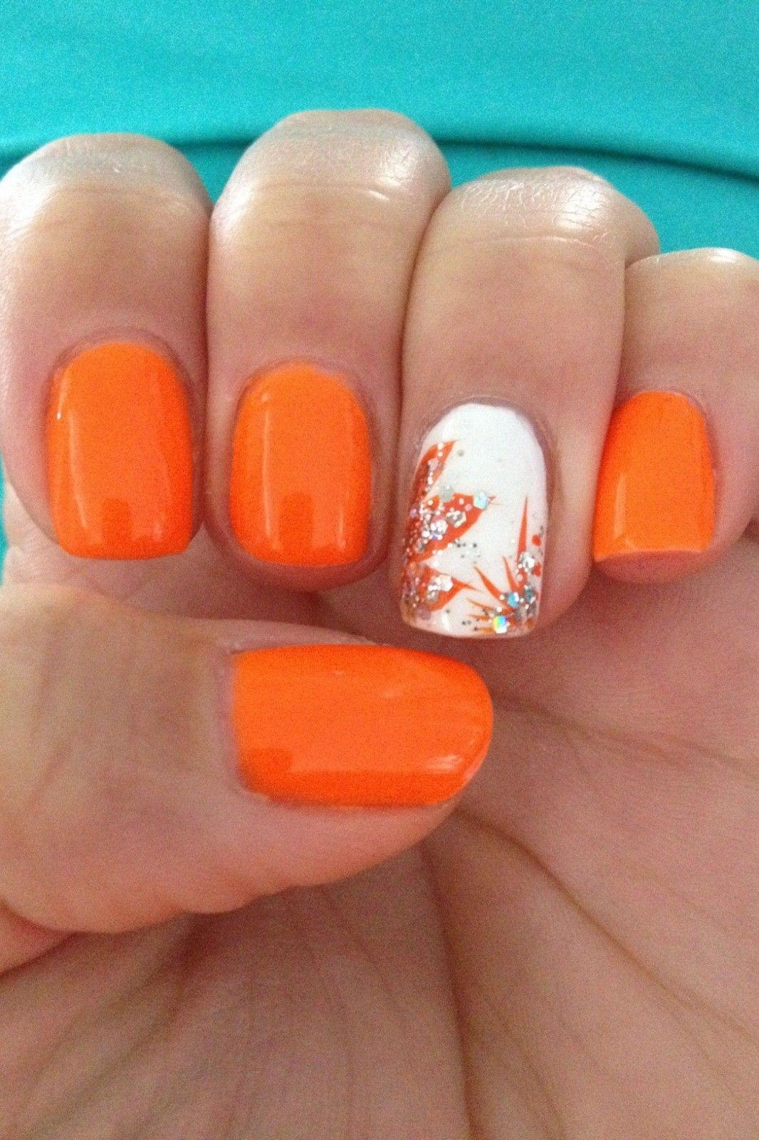 10 Nail Colors That Are On Trend For Spring 2020 In 2020 Orange Nails Fall Nail Colors Nail Colors