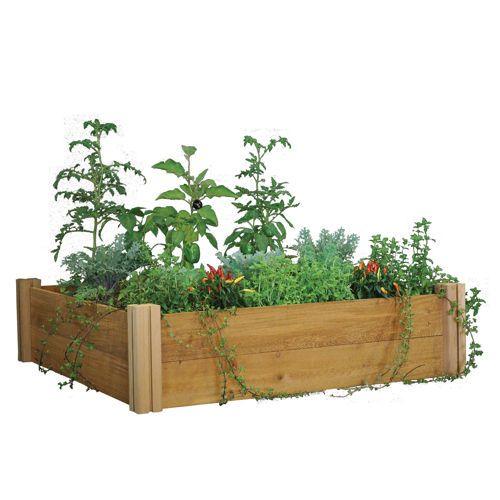 Costco Com Planter Boxes Made Of Cedar Wood And 99 Modular Raised Garden Beds Cedar Raised Garden Beds Raised Garden