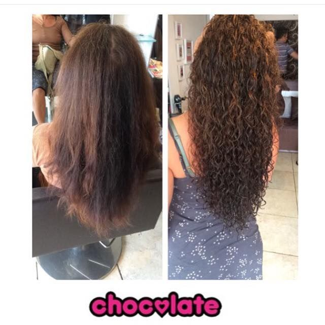 Piggyback Perm Before And After Womens Hairstyles Curly Hair Styles Long Hair Styles