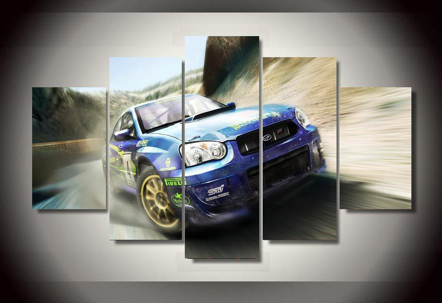 5 Panels Subaru Sports Car Canvas Art #Cars & Subaru Sports Car | Pinterest | Subaru sport Canvases and Artwork