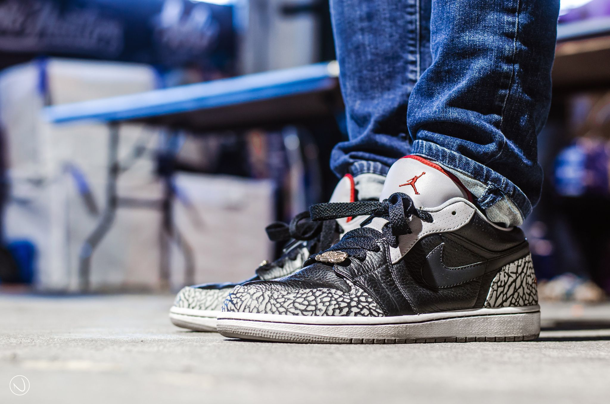 "Air Jordan 1 Phat Low ""Black Cement"" (con imágenes)"