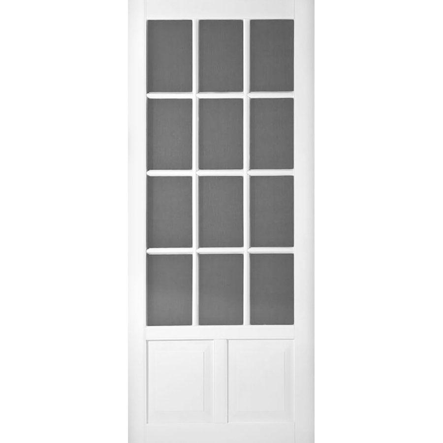 Shop Screen Tight Wedgefield Vinyl White Screen Door (Common: 32 In X 80