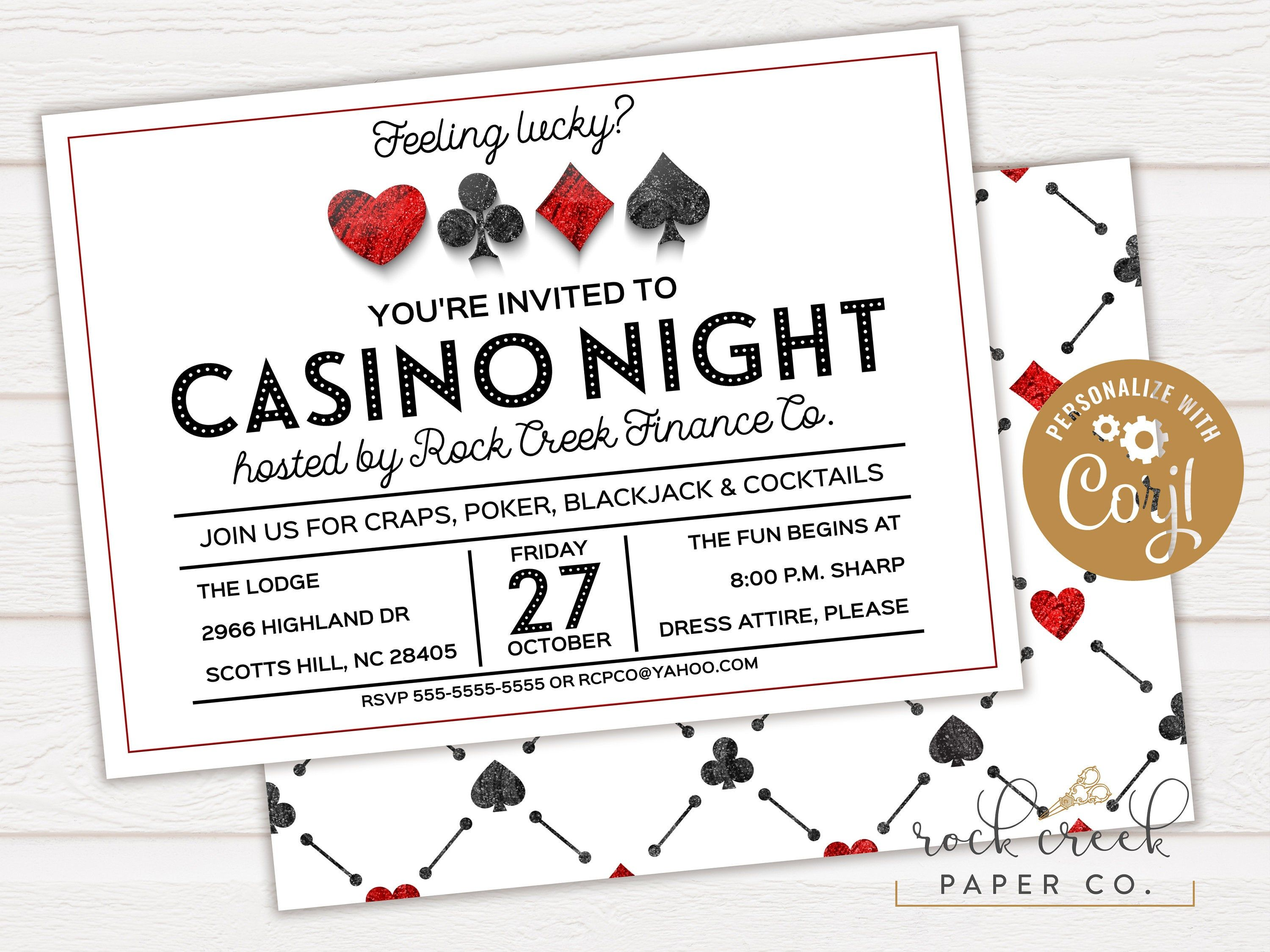 run a casino night