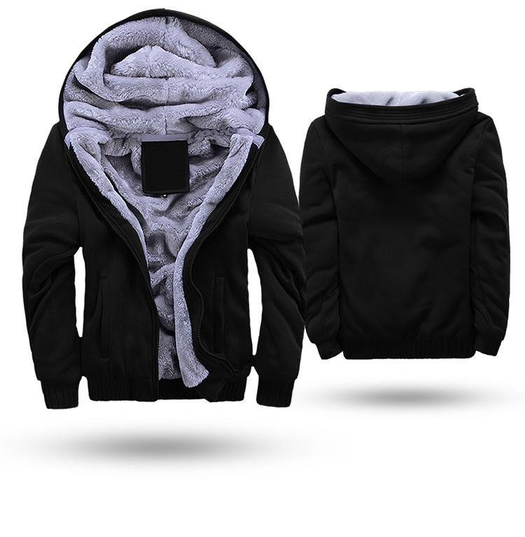 Blusa jaqueta de frio masculina com capuz e forro de lã  b94f5359d6b