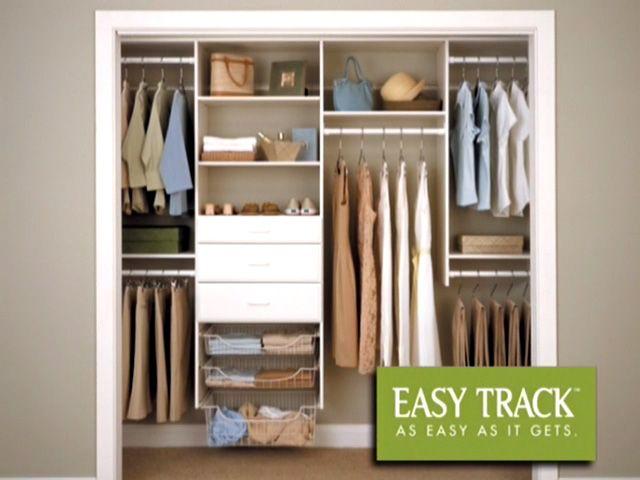 Easy Track 4 To 8 Deluxe Starter Closet Kit Truffle