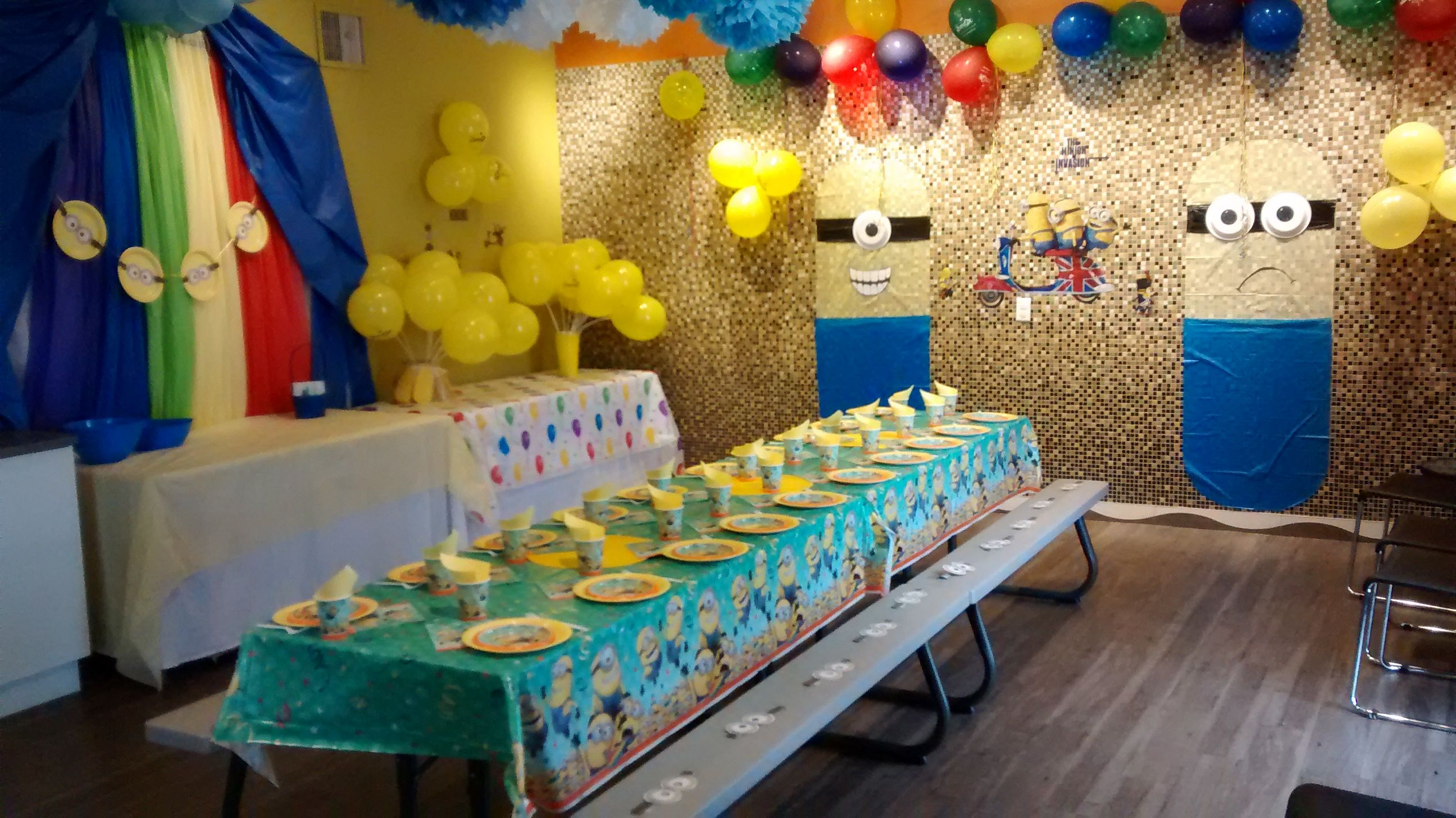 Jump2It:  Minions themed birthday party