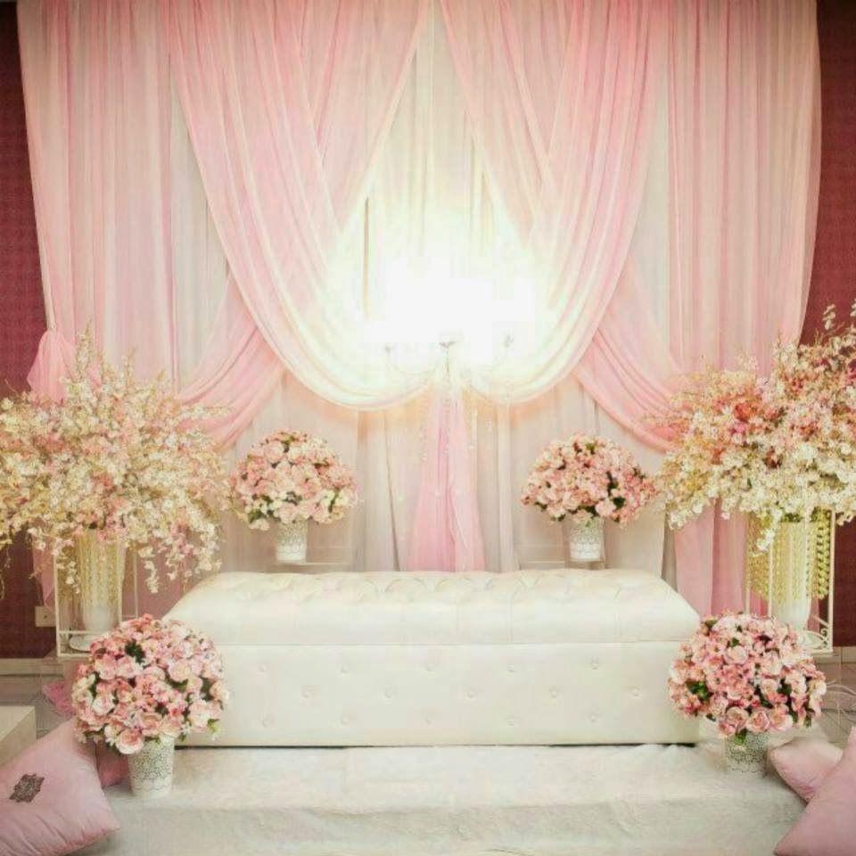 Wedding Nikah Simple Backdrop Decoration Muslim: Plmin Tirai Ekonomi For Booking N Info Call @Whitney